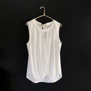 Stitch Fix 41 Hawthorn Clearwater White Draped Top
